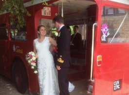 Red Routemaster Bus for weddings in Kettering